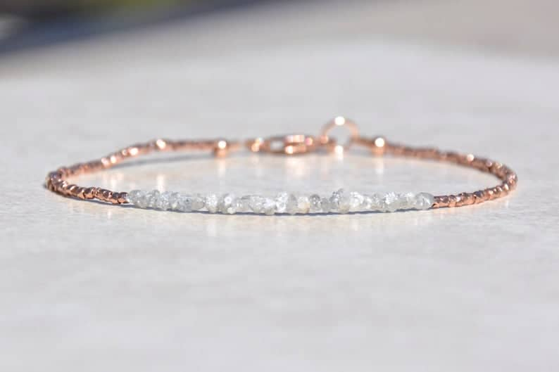 Conflict Free Rough Diamond Bracelet