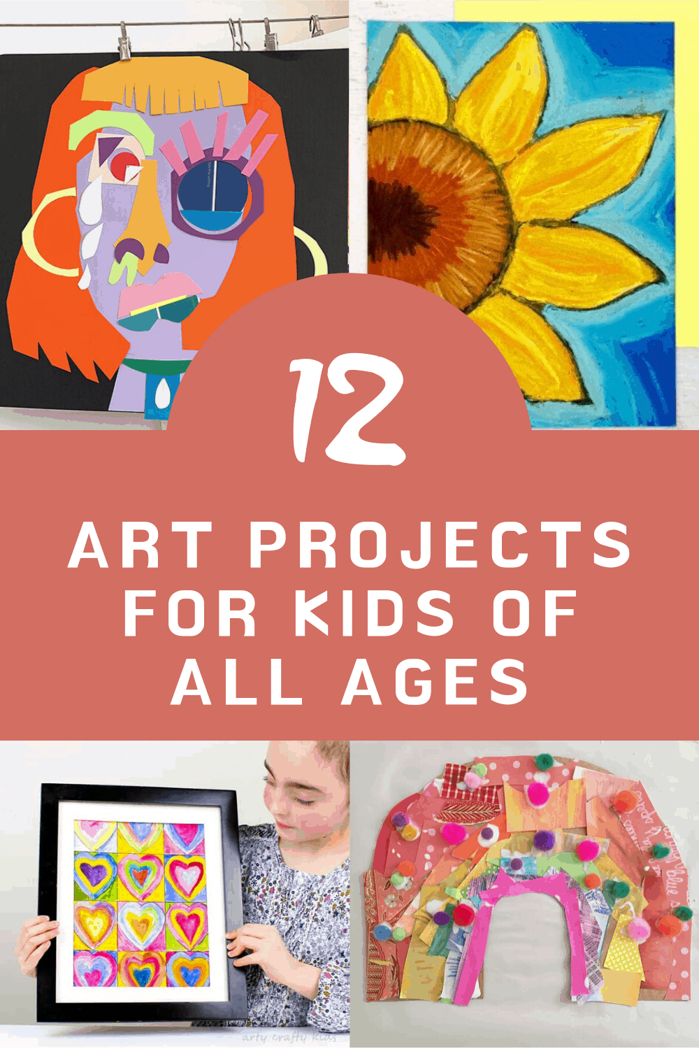 These art projects are perfect for kids of all ages. Inspired by Monet and Picasso you'll find ideas for collage, painting and drawing