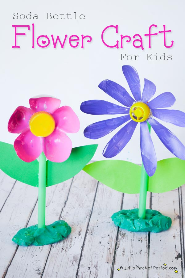Recycled Soda Bottle Flower Craft for Kids
