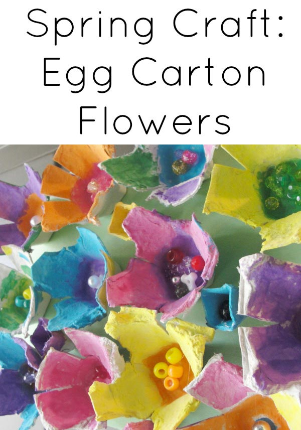 10 beautiful spring flower crafts for kids may flowers egg carton flower mightylinksfo Choice Image