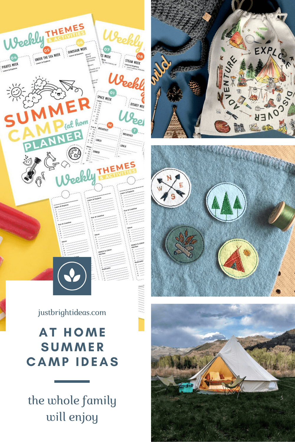 Are you thinking about planning an at home summer camp this year? Check out these fun activities for kids of all ages
