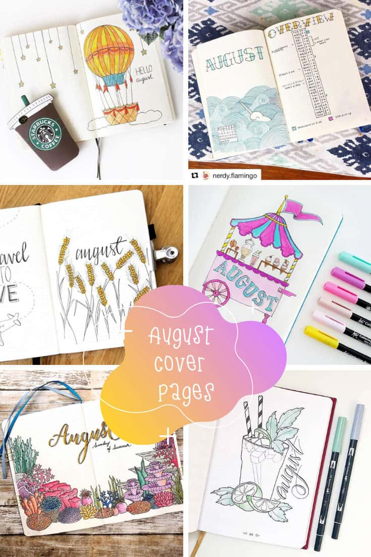 If you're stuck for August cover page ideas for your bullet journal you are going to be totally inspired by this collection!