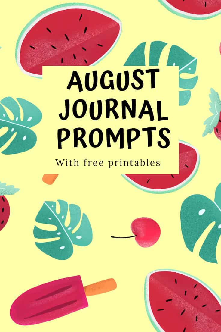 These August journal prompts are just what you need to inspire your journalling in the summer!