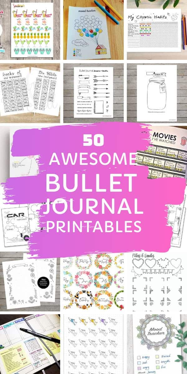 Awesome bullet journal printables you can download and print out! #bulletjournal