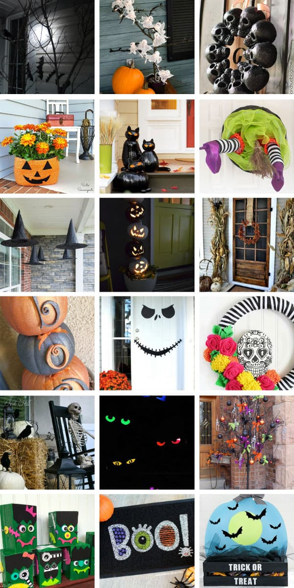 These awesome Halloween porch ideas are just what you need to welcome your trick or treaters and Halloween party guests this Fall! #Halloween #halloweenDecor