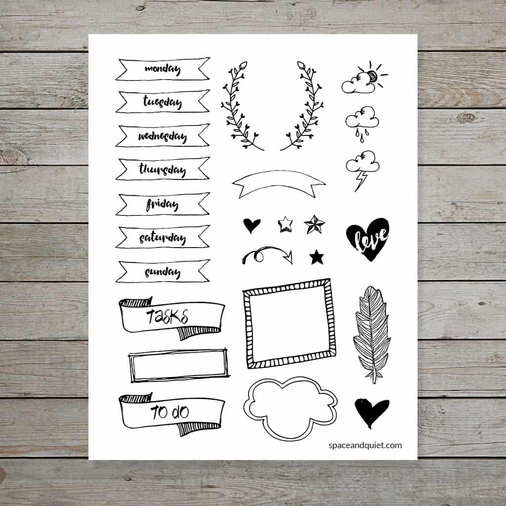 Bullet Journal Banner Printable
