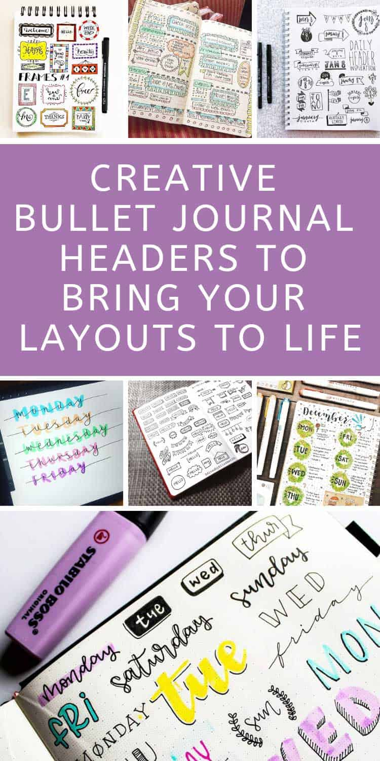 Loving these BUJO headers - they're so creative!