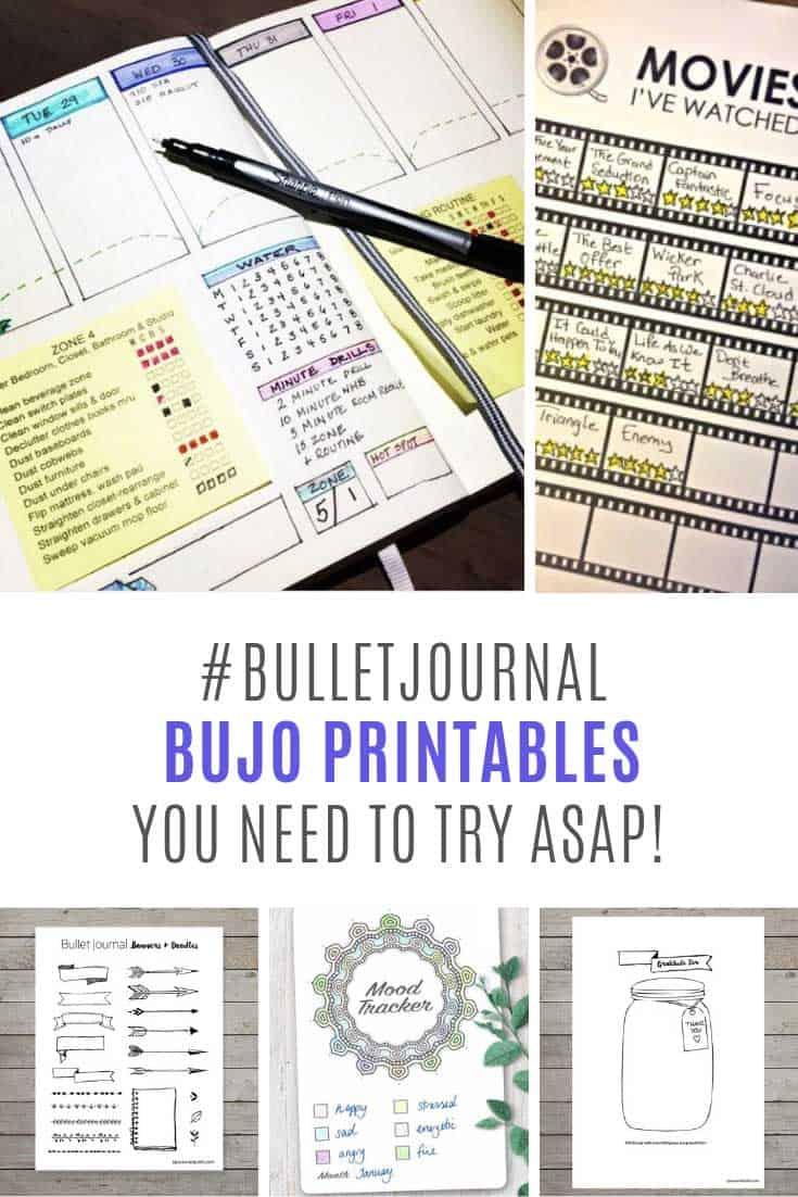Loving these BUJO printables - so easy to use!
