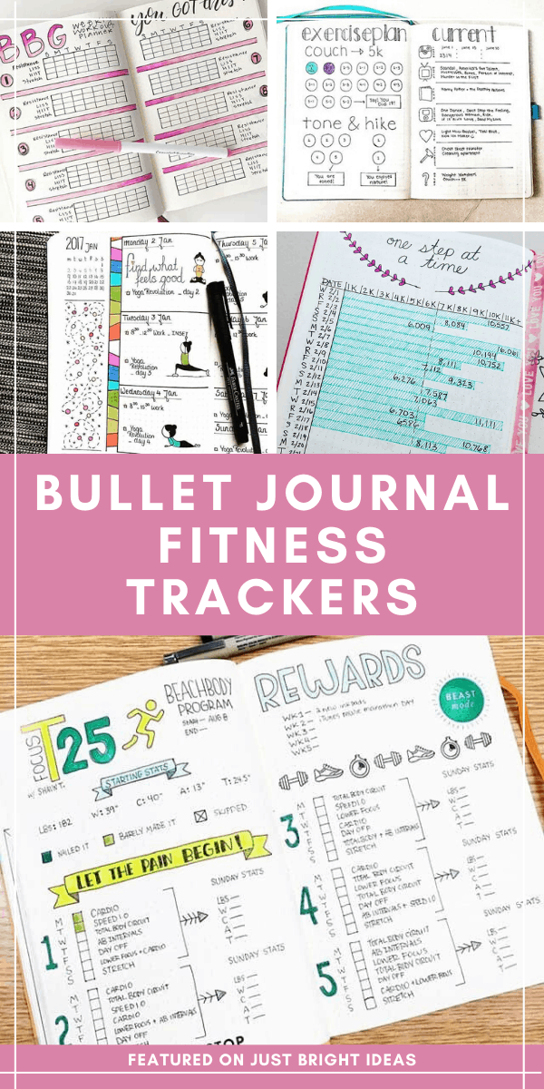 If you're ready to turn your exercise dreams into an actual habit you need to use one of these genius bullet journal fitness trackers!
