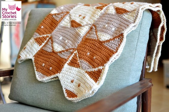 Baby Blanket Fox Pattern