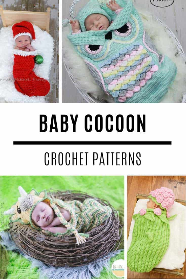 These baby cocoon crochet patterns are fabulous and perfect for a newborn photo shoot!