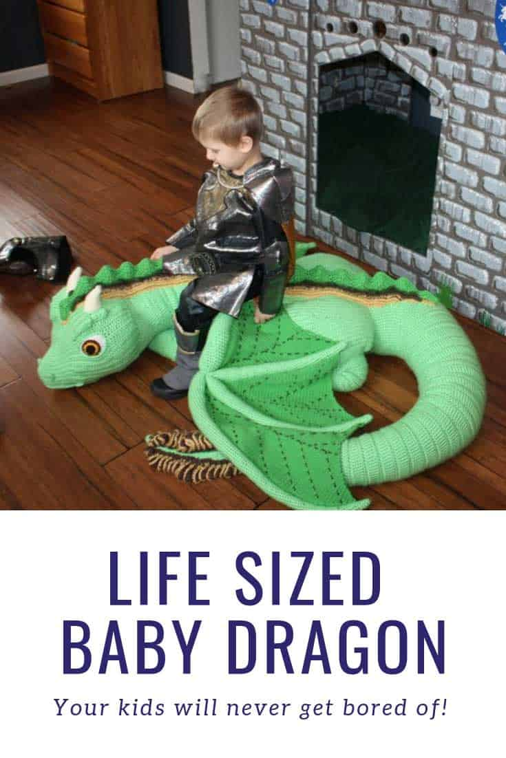 Did you ever see anything so amazing as a life sized baby dragon toy you can crochet!
