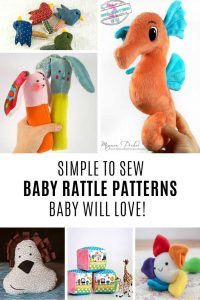 These baby rattle sewing pattern ideas are super sweet!