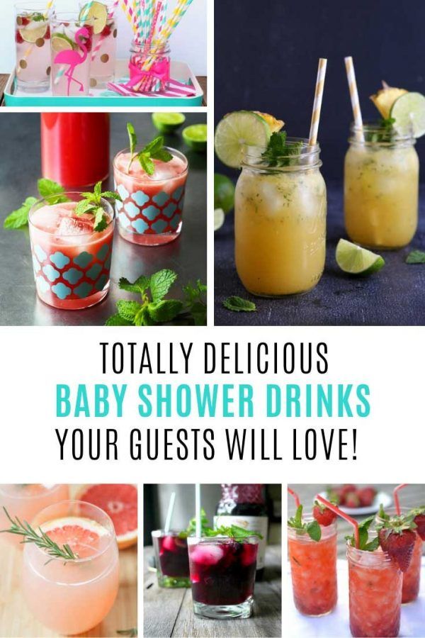 These baby shower drinks taste amazing!