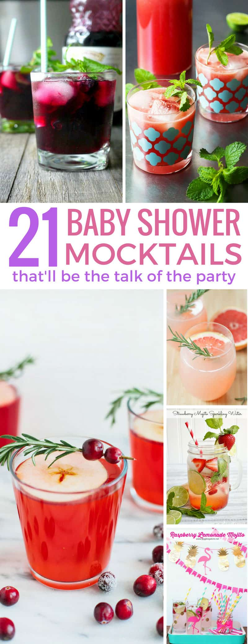 These baby shower mocktails taste amazing! They're great for kids and designated drivers too!