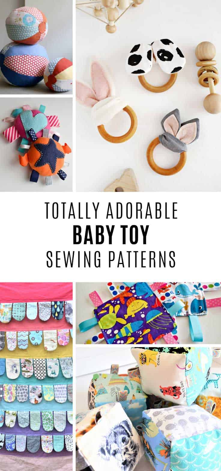 These baby toy patterns are adorable and so simple to sew!