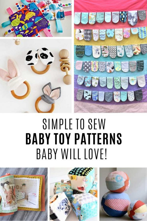 These baby toy sewing patterns are so easy to follow!