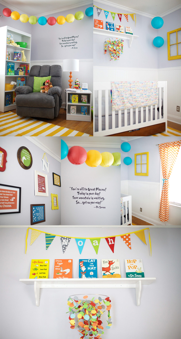 Oh the Places You'll Go inspired nursery design