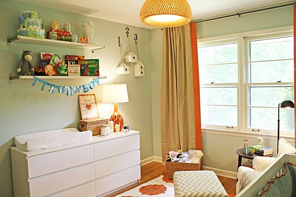 A dresser can double as a changing table with the addition of a simple mat.