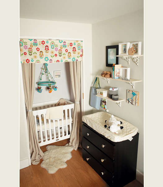 If you are pushed for space put the crib inside the closet.