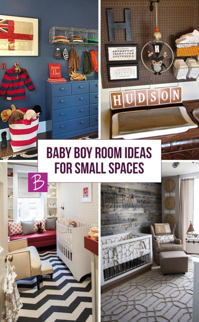 These Baby Boy room ideas are perfect if you only have a small space for his nursery!