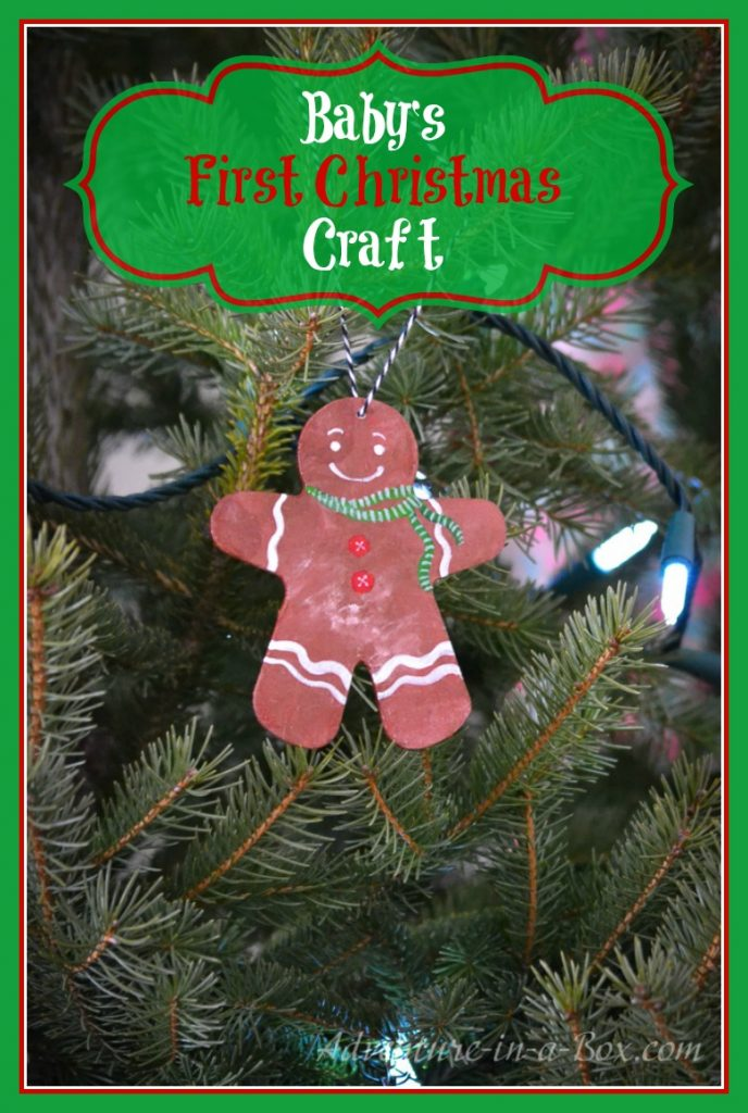 Even baby can get involved making a Christmas ornament!