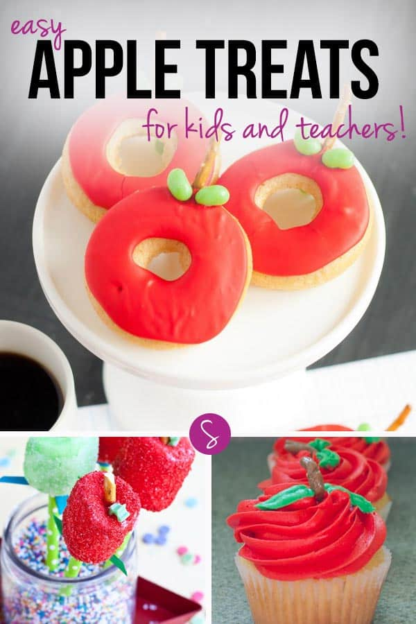 Easy Back to School Apple Treats for Kids: Give them to your child's teacher as an edible gift or eat them yourselves to celebrate the first day of school!