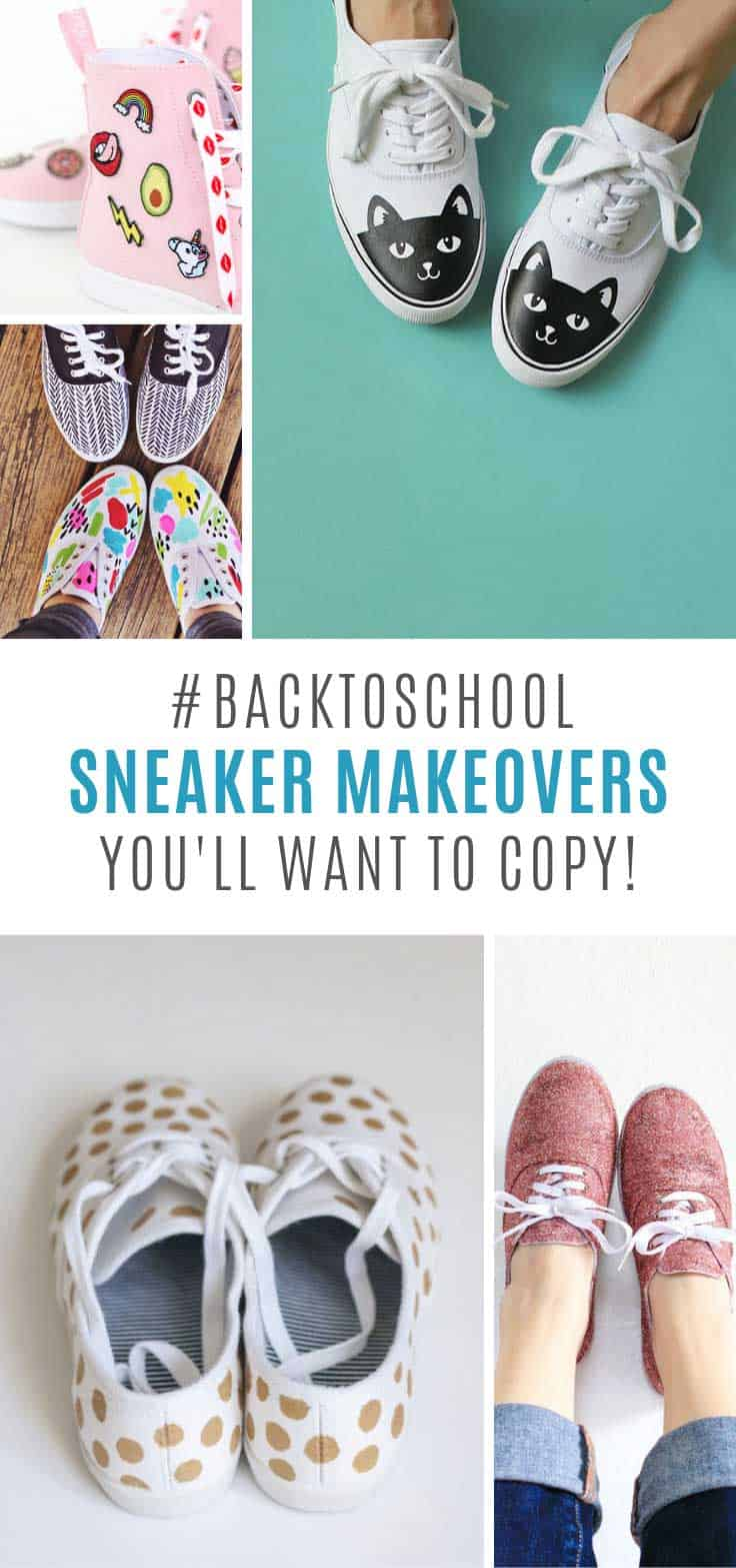 Loving these back to school DIY sneakers!