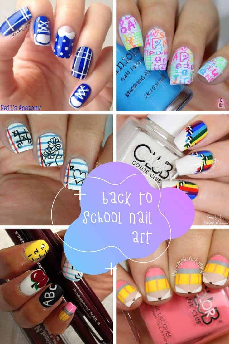 How cute are these back to school nail art ideas! Perfect for students and teachers!