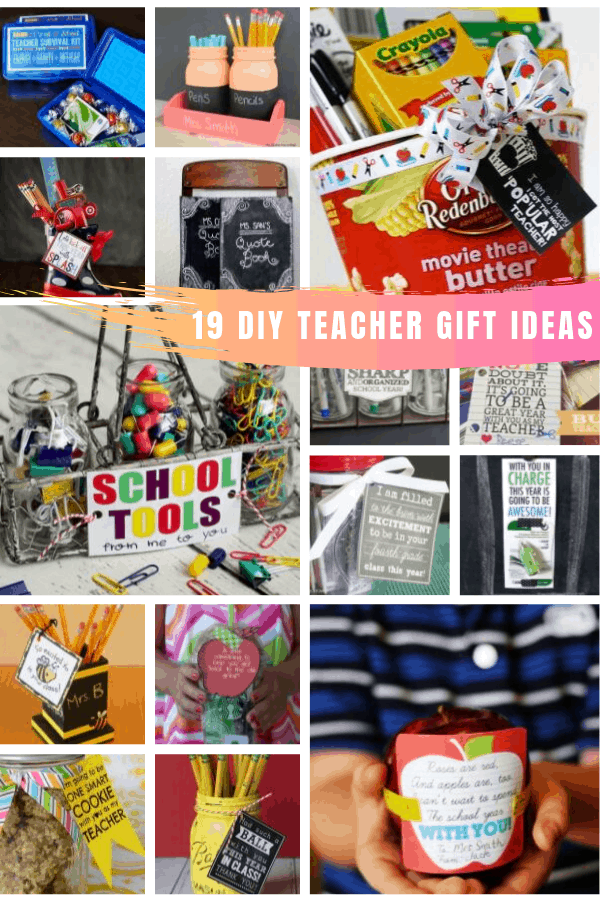 So many fun back to school teacher gift ideas and printable labels to show your appreciation from the 1st day! #teachergift #backtoschool