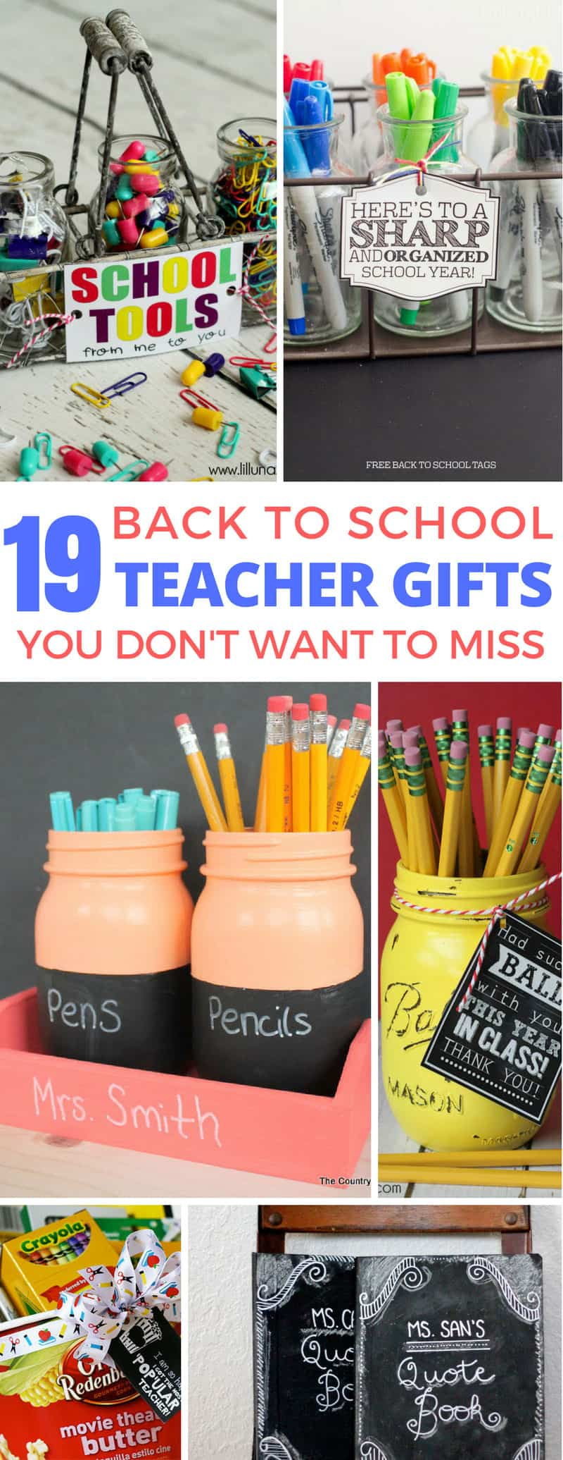 These DIY back to school gifts are brilliant - easy to make and so thoughtful!