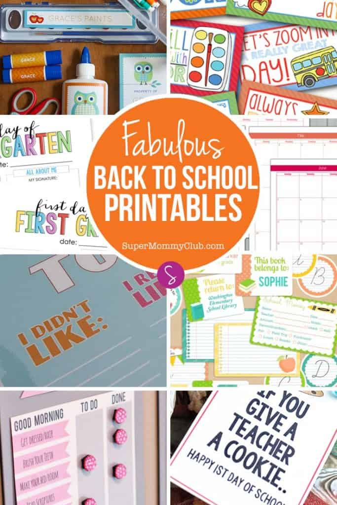 Getting the kids ready to go back to school after the long summer break can always feel daunting. So many things to remember and so many things to get ready. This year we've tried to make life a little easier for you by rounding up a collection of Free Back to School Printables that should help you feel less stressed.