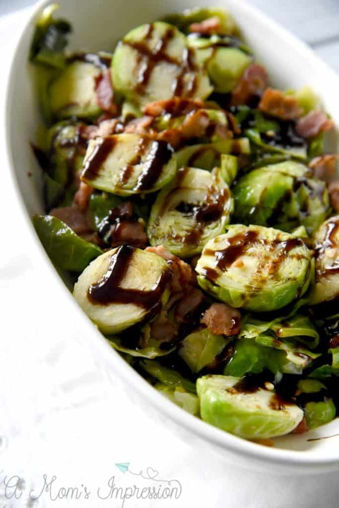 Bacon and Balsamic Instant Pot Brussels Sprouts