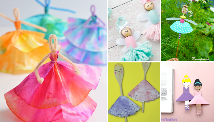 Ballerina Crafts Ideas for Kids to Do At Home