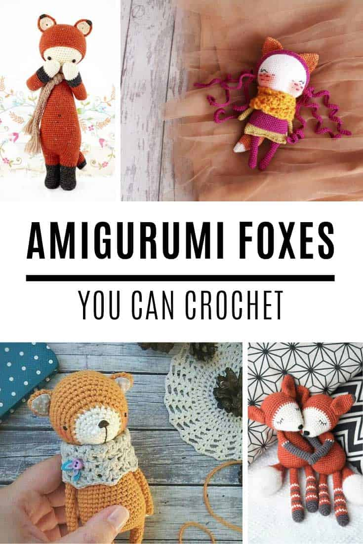 Cute Amigurumi fox crochet patterns for your project list!