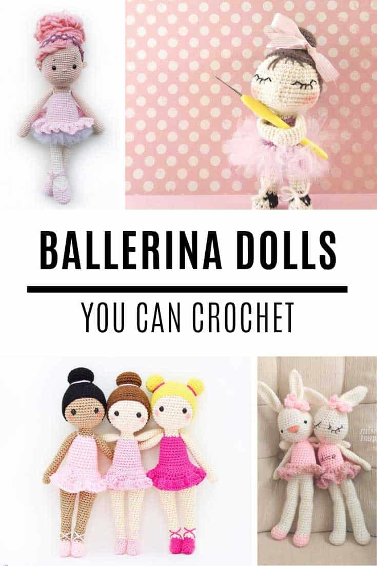 These ballerina doll crochet patterns are so sweet!