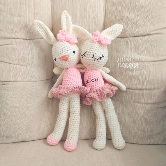 Rowena & Riley the Ballerina Rabbit Crochet Amigurumi Pattern