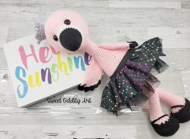 Crochet Flamingo Doll