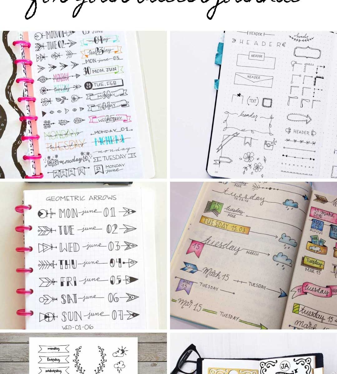 Looking for banners for you bullet journal? We've got some gorgeous ideas and tips on how to draw them! #bulletjournal
