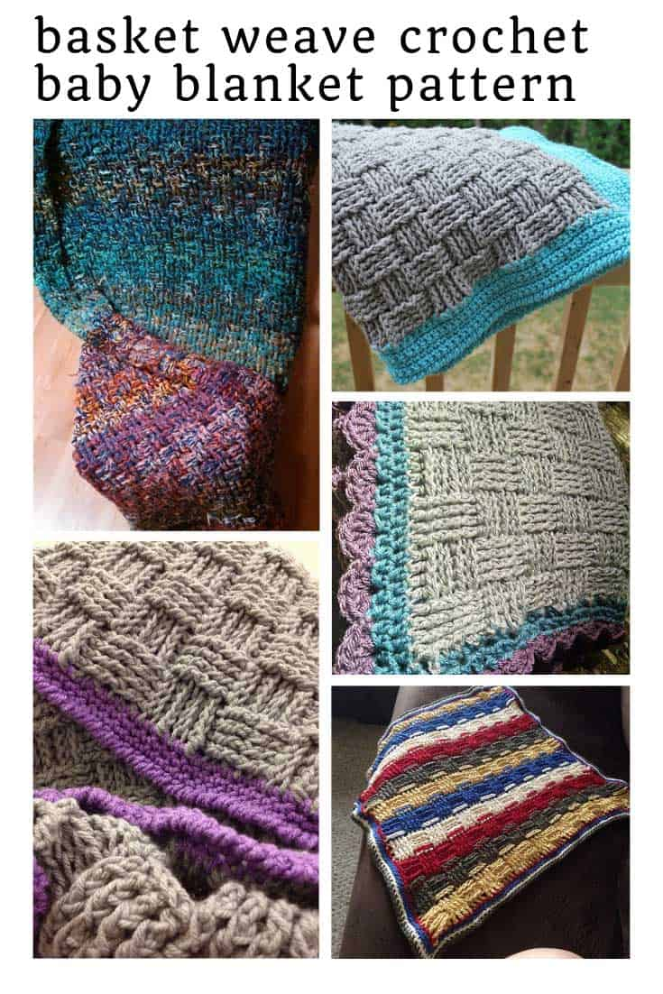 LOVING this gorgeous basket weave crochet baby blanket pattern and it's free!