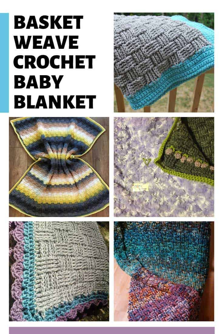 This basket weave crochet baby blanket is wonderful - and so many ways to make it too!