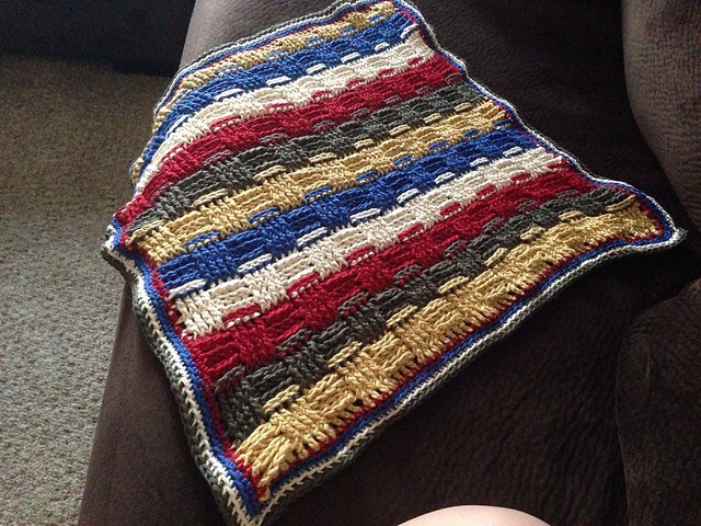 Basketweave Blanket Stripes