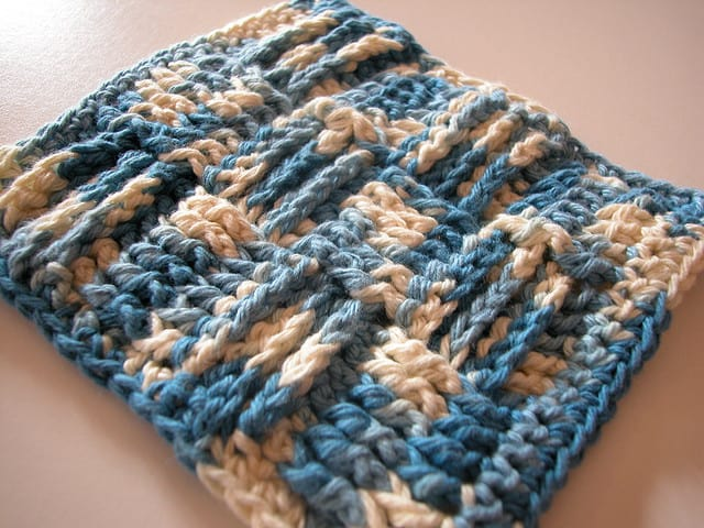 Basketweave Scrubby Cloth