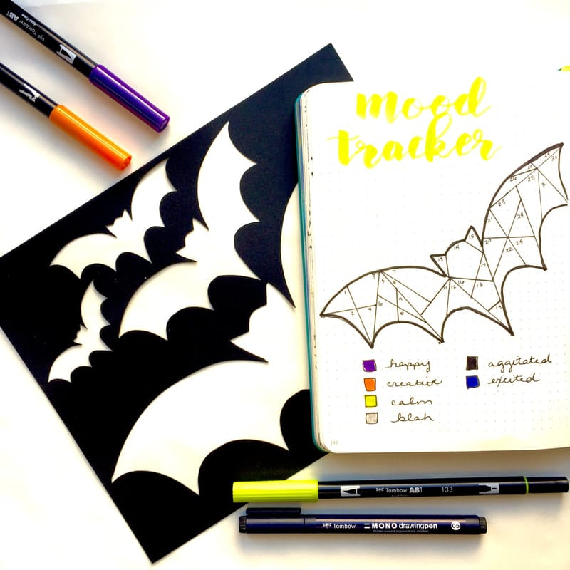 Bat halloween Mood Tracker