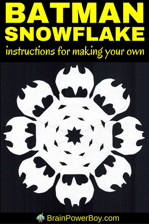 How COOL are these Batman snowflakes? The PERFECT Christmas craft for boys who love super heroes!