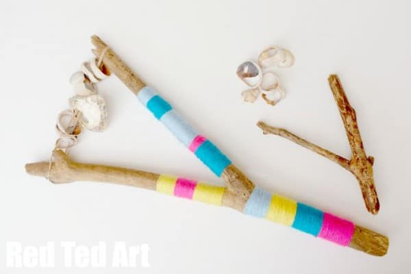 Beach Drift Wood & Broken Shell Rattles