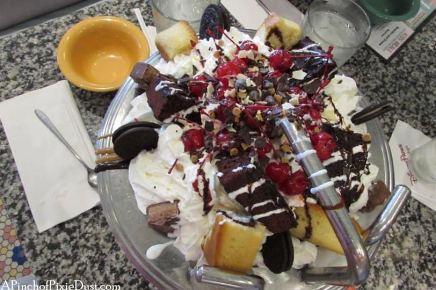 Take the Kitchen Sink challenge at the Boardwalk Beaches and Cream