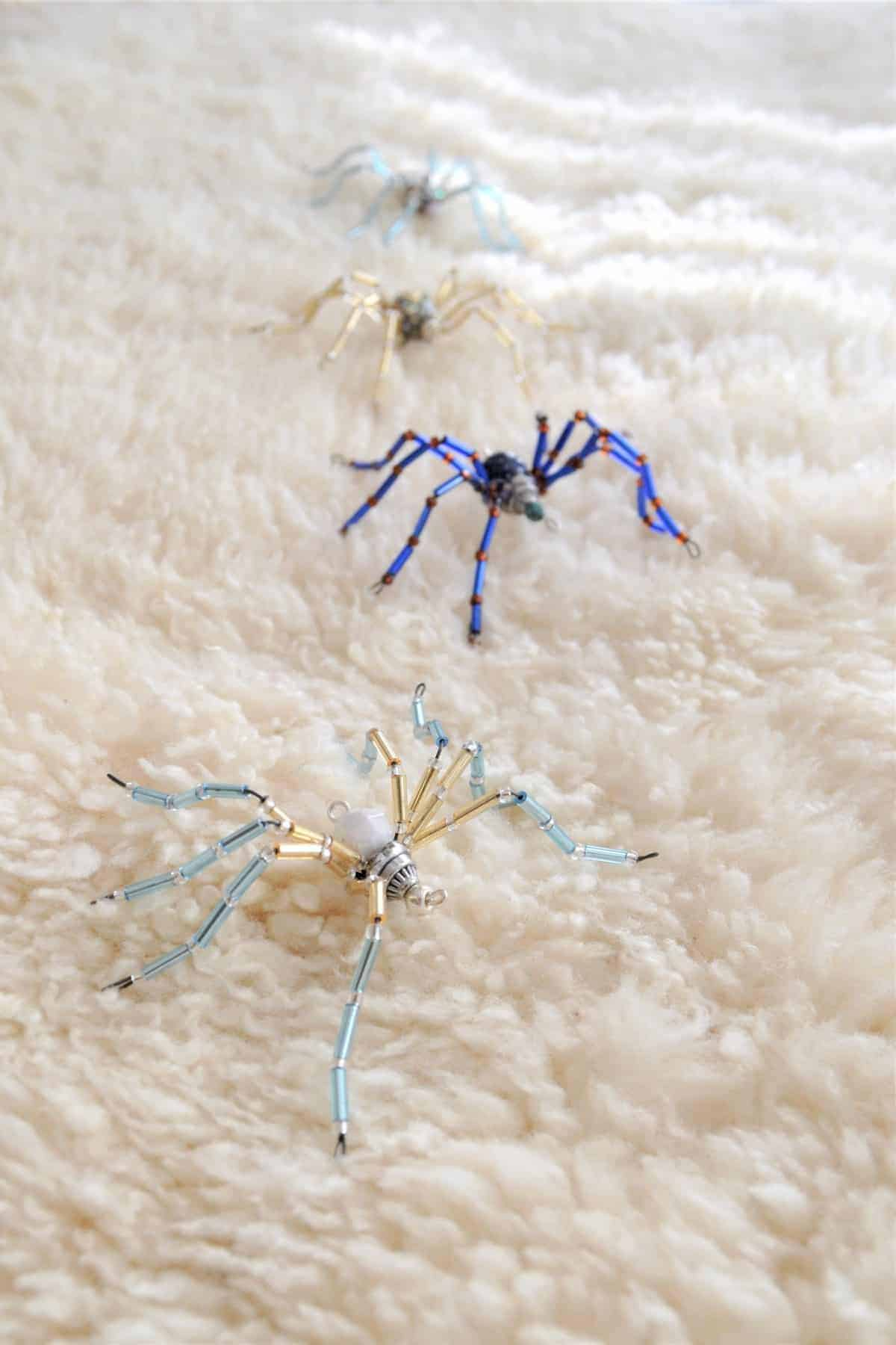 DIY Beaded Spiders