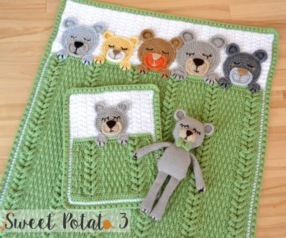 Bears in Bed Crochet Pattern