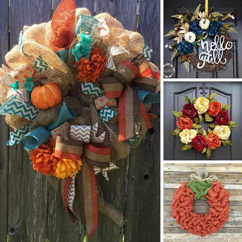 These front door Fall wreaths are beautiful and I can't wait for mine to arrive!